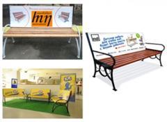 Рекламные скамейки