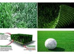 Artificial lawns. Safe coverings