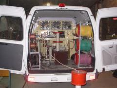 Laboratories are mobile high-voltage