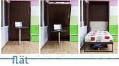 Вертикальная кровать-трансформер со столом. 2 в 1