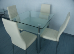 Dining table from DT1-077 glass