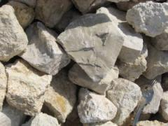 Calcareous crushed stone
