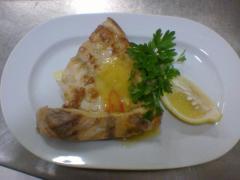 Судак в мандариновом соусе в ресторане Bachus Dava
