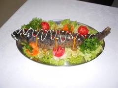 Рыба фаршированная в ресторане Bachus Dava