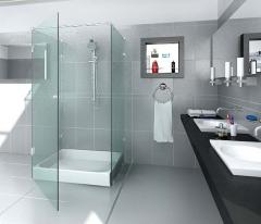 Oar, sliding shower cabins from the tempered glass