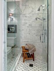 Shower panels from glass