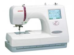 The embroidery machine the JANOME MC-350E