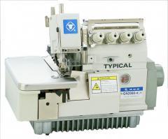 Промышленные оверлоки    Промышленный 2-игольный 4-х ниточный оверлок TYPICAL GN2000-4H