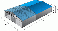 Mobile buildings hangars