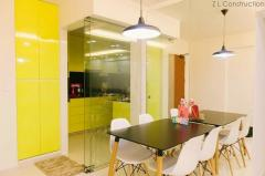 Partitions for kitchen