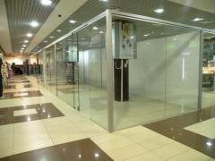 Trade partitions glass