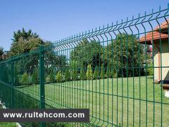 Gard metalic sudat. Plasa pentru gard. Stilpi.