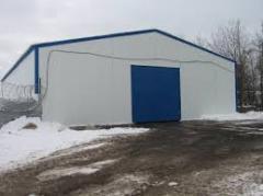 Frame and awning hangar
