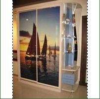 Шкаф-купе с фотопечатью (морская тематика)