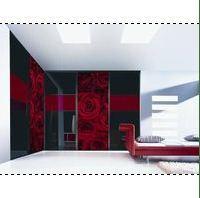 Шкаф-купе с фотопечатью (черно-красный)