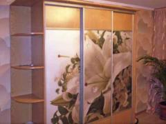 Sliding wardrobe with a photo printing (lily)