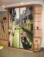 Sliding wardrobe with a photo printing (Venice)