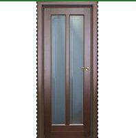 Двери межкомнатные с матовым стеклом