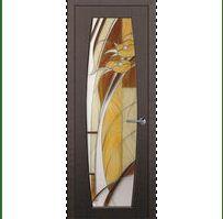 Межкомнатные двери с цветным стеклом