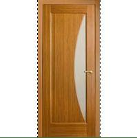 Межкомнатные двери со стеклом светло-коричневые