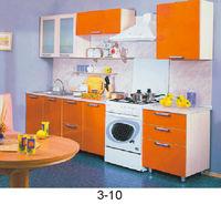 Кухонный гарнитур оранжево-белый