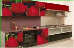 Кухонный гарнитур с розами