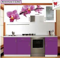 Кухня с  фотофасадом (цветок)