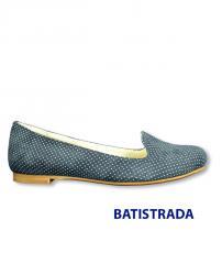 Синие балетки из натуральной замши Batistrada