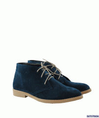 Stylish boots from natural suede dark blue