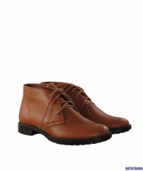 Boots from genuine leather red Batistrada