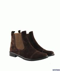Ботинки из натуральной замши коричневые Batistrada