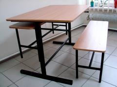 Столы для общепитов,столовых с подьемной скамьей