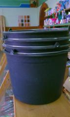 Ведра строительные,оцинкованные, пластиковые  (в