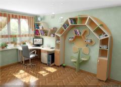 Детская комната рабочая зона солнышко