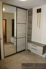 The sliding wardrobe is mirror