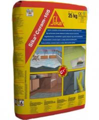 Glue elastic for tile on cement basis of the class