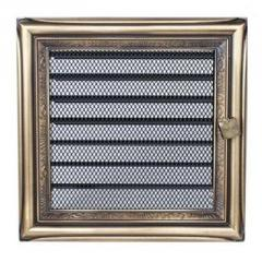 Ventilating grates for fireplaces on firewood.