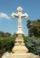 Crucifixion, monuments, gravestones, entrances in