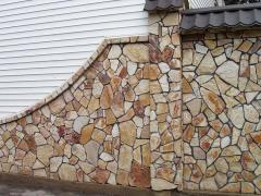 Front works from a natural stone, a front stone