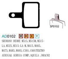 Blocks disk ASHIMA AD0102-SM-S w/spring
