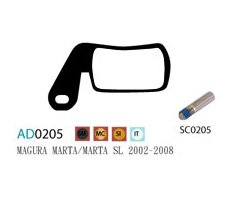 Blocks disk ASHIMA AD0205-SM-S w/screw