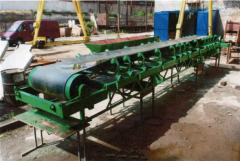 Conveyors tape for distribution of loose forages