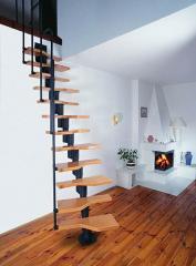 Лестницы комбинированные дерево и металл