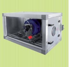 Секции вентиляторов подачи и вытяжки воздуха