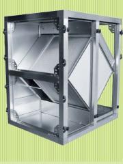 Section of the lamellar Salda heat exchanger