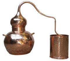Аламбик на 1 литр, без колонны, ручная ковка и