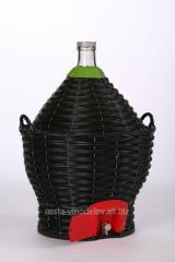 Бутыль-демиджон с краном для вина и пластиковой
