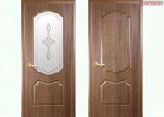 Дверь из бруса Новый стиль Фортис V золотая ольха