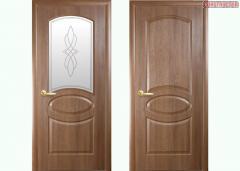 Дверь из бруса Новый стиль Фортис R золотая ольха