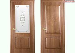 Дверь из бруса Новый стиль Вилла золотая ольха